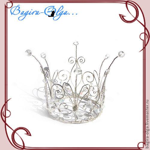 """Свадебные украшения ручной работы. Ярмарка Мастеров - ручная работа. Купить корона """"Ангельские перья"""". Handmade. Корона"""