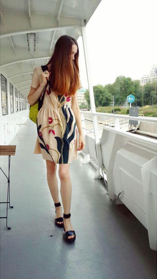 Платья ручной работы. Ярмарка Мастеров - ручная работа. Купить Платье Городские водоросли. Handmade. Бежевое платье, Кремовое платье