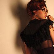 Одежда handmade. Livemaster - original item Chiffon blouse with ruffle. Handmade.