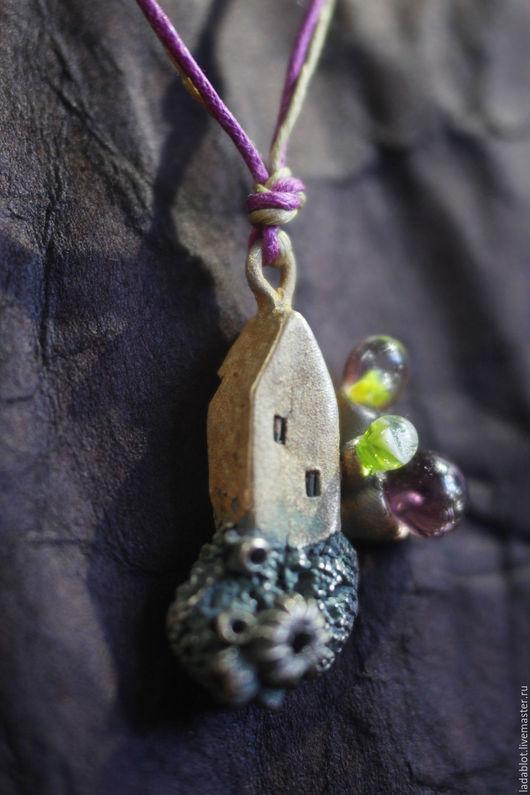 Кулоны, подвески ручной работы. Ярмарка Мастеров - ручная работа. Купить Кулон Рассветный домик у моря. Handmade. Metalclay, нежность