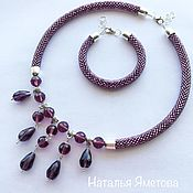 "Jewelry Sets handmade. Livemaster - original item Комплект из бисера ""сиреневый свет"". Handmade."
