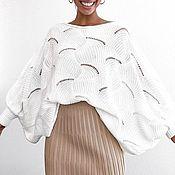 "Пуловеры ручной работы. Ярмарка Мастеров - ручная работа Пуловеры: Пуловер с рукавами ""летучая мышь"". Handmade."