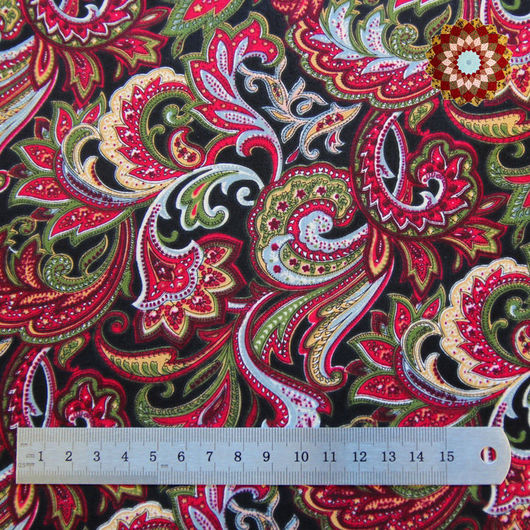 Ткань хлопок `Восточный базар красный`. Код товара: ZT-00023