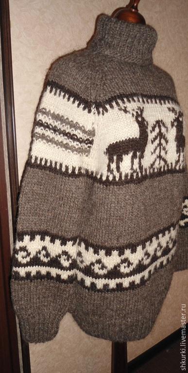 Кофты и свитера ручной работы. Ярмарка Мастеров - ручная работа. Купить Свитер с оленями. Handmade. Свитер, свитер с оленями