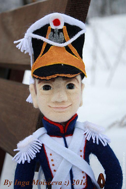 Портретные куклы ручной работы. Ярмарка Мастеров - ручная работа. Купить Кукла войлочная, Гренадер. Handmade. Подарок на день рождения