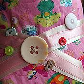 """Работы для детей, ручной работы. Ярмарка Мастеров - ручная работа Детская панама """"Лягушки, черепашки, стрекозы на розовом"""". Handmade."""