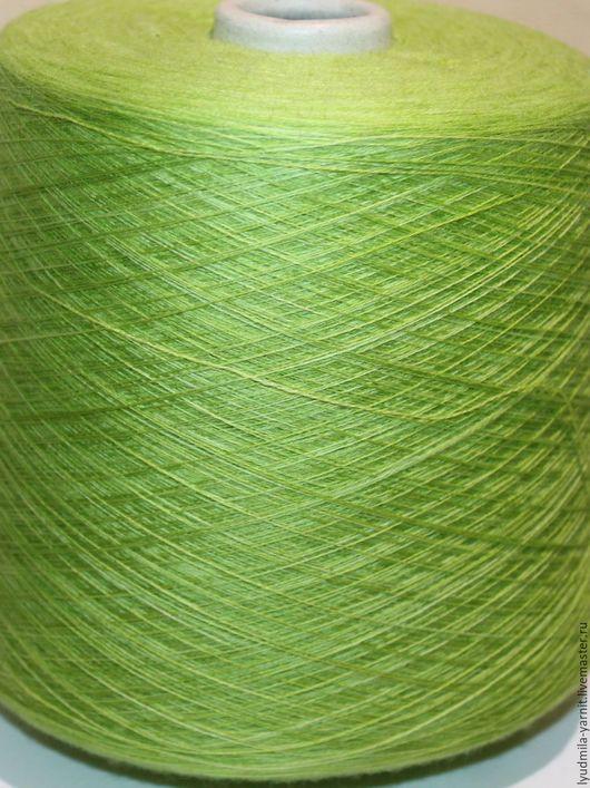 Вязание ручной работы. Ярмарка Мастеров - ручная работа. Купить Меринос 100 % CLASSICO LEGNO, цвет зеленый-светло зеленый. Handmade.