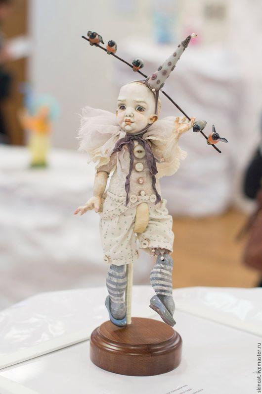 Коллекционные куклы ручной работы. Ярмарка Мастеров - ручная работа. Купить Снеговик. Handmade. Белый, перламутр натуральный, бисер, хлопок