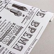 """Материалы для творчества ручной работы. Ярмарка Мастеров - ручная работа Бумага крафт """"Газета Новости"""" белая. Handmade."""