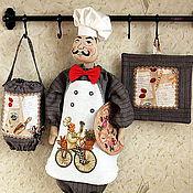 """Для дома и интерьера ручной работы. Ярмарка Мастеров - ручная работа """"Пиццерия Маэстро  Проспэро""""(+ прихватка) комплект. Handmade."""