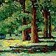 Пейзаж ручной работы. Ярмарка Мастеров - ручная работа. Купить Деревья, копия картины в мозаике. Handmade. Пейзаж, летний пейзаж