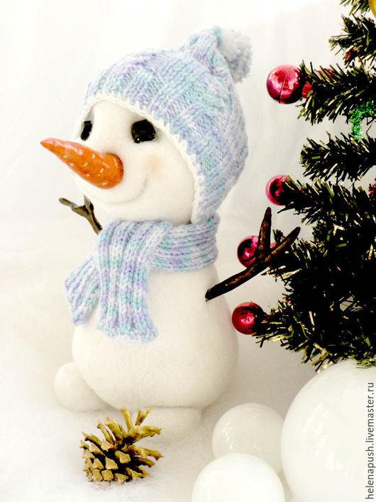 Сказочные персонажи ручной работы. Ярмарка Мастеров - ручная работа. Купить снеговичок. Handmade. Белый, снеговичок, подарок, рождество