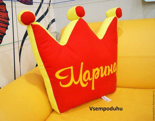 Детские аксессуары ручной работы. Ярмарка Мастеров - ручная работа. Купить Подушка корона подарок на день рождения детям. Handmade.