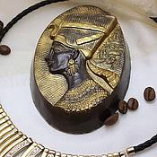 Косметика ручной работы. Ярмарка Мастеров - ручная работа Мыло-скраб кофейное Нефертити. Handmade.