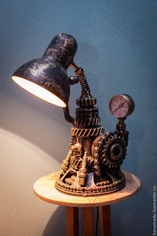 Освещение ручной работы. Ярмарка Мастеров - ручная работа. Купить Лампа Техно Арт (Настольная лампа). Handmade. Золотой, металл