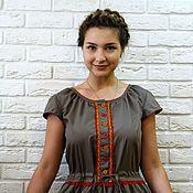 Одежда ручной работы. Ярмарка Мастеров - ручная работа Платье летнее из хлопка, бохо, экостиль. Handmade.