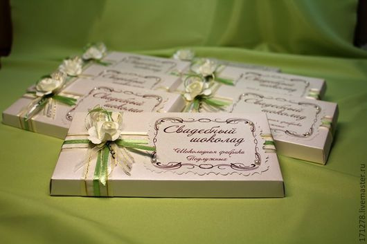 Свадебные аксессуары ручной работы. Ярмарка Мастеров - ручная работа. Купить ( арт. 0001) Оформление свадебного шоколада. Handmade.
