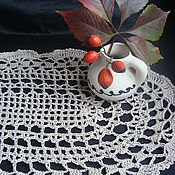 Для дома и интерьера ручной работы. Ярмарка Мастеров - ручная работа Вязаная овальная салфетка в винтажном  стиле Безмолвие. Handmade.