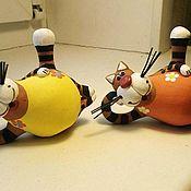 Колокольчики ручной работы. Ярмарка Мастеров - ручная работа Котик фигурка. Handmade.
