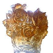 """Подарки к праздникам ручной работы. Ярмарка Мастеров - ручная работа Ваза """"Розы"""" из хрусталя. Handmade."""