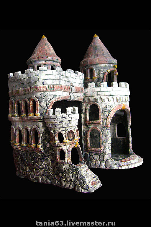 For other Animals handmade. Livemaster - handmade. Buy decorations for aquariums 'Locks'.Aquarium, castle, faience