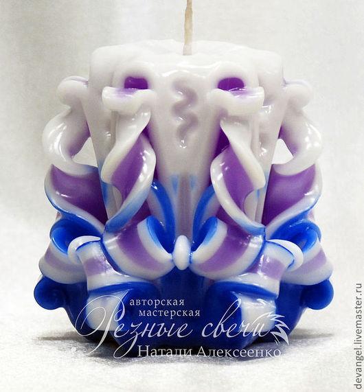 Свечи ручной работы. Ярмарка Мастеров - ручная работа. Купить Резная свеча Малышка Индиго Резные свечи ручной работы. Handmade.