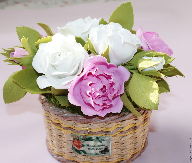Заказы корзины с цветами из фома