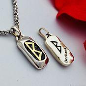 Фен-шуй и эзотерика handmade. Livemaster - original item Amulet berkana - family, children, women`s charm (silver gold). Handmade.