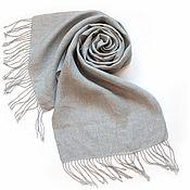 Аксессуары handmade. Livemaster - original item Linen grey scarf. Handmade.