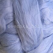 Материалы для творчества handmade. Livemaster - original item Viscose matte, felting, color Blue, Germany, 50 gr.,. Handmade.