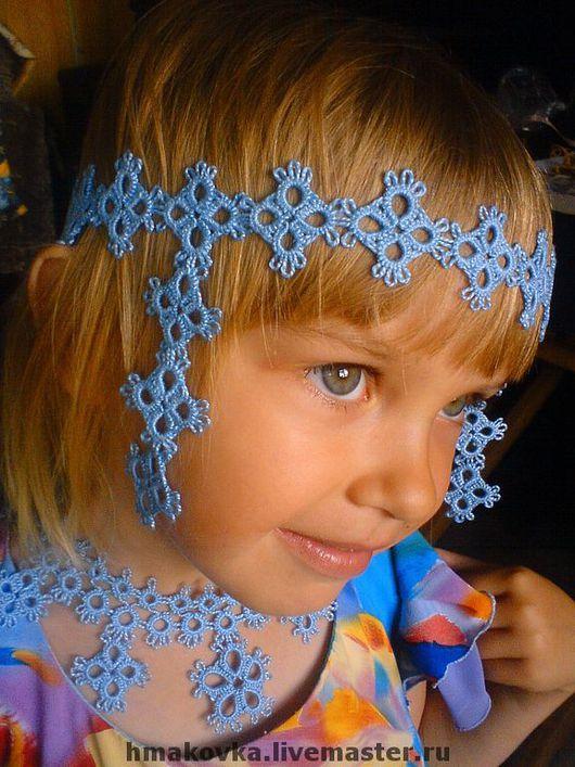 Очелье детское и ожерелье, возможно исполнение в любых цветах и с добавлением бисера.