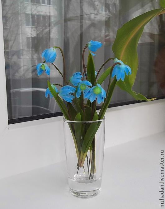 Пролески,первые цветы,ручная работа,первоцвет