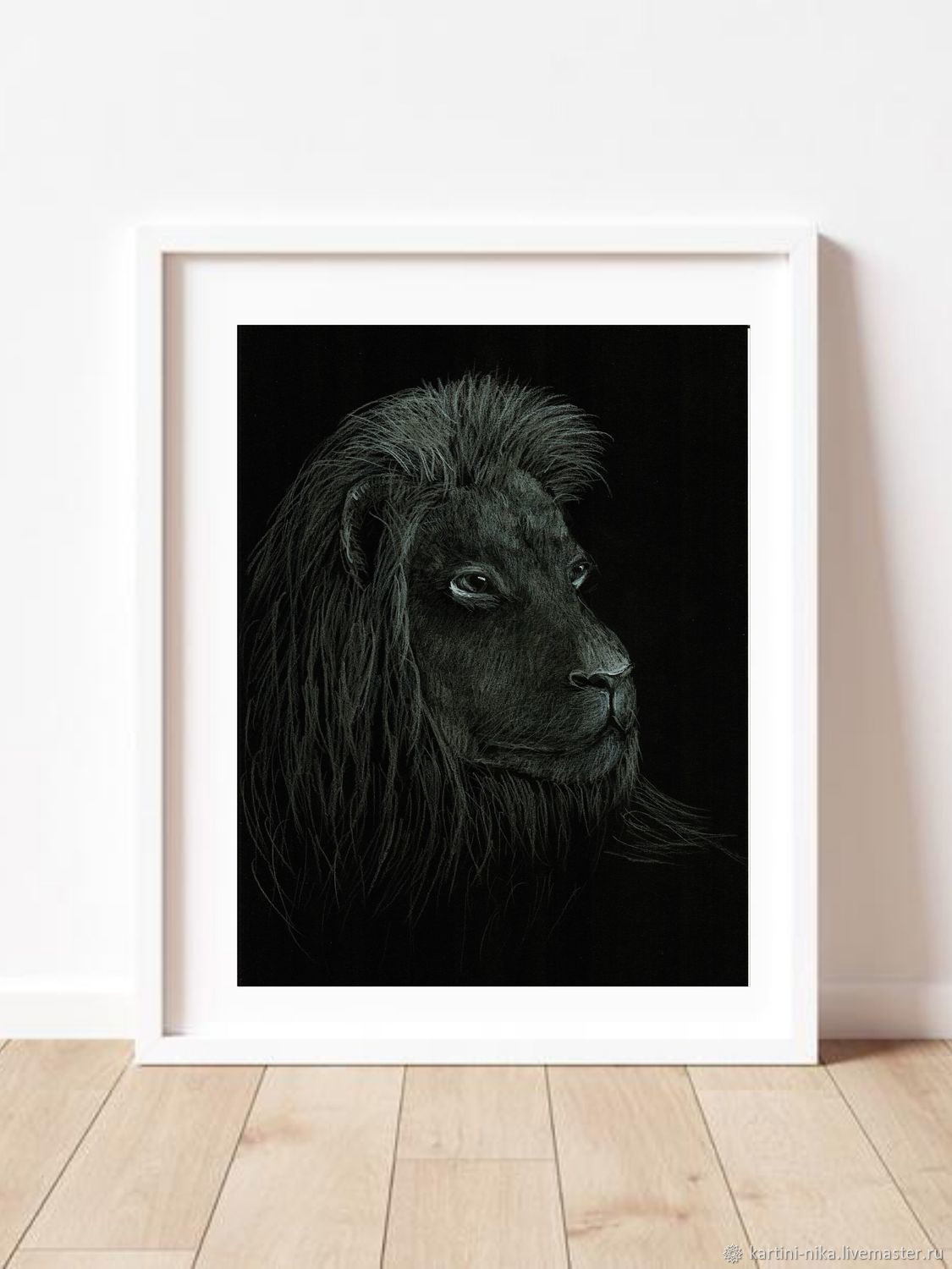 Black and white picture of a lion, Pictures, St. Petersburg,  Фото №1