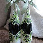 Свадебный салон handmade. Livemaster - original item Painted bottles from the