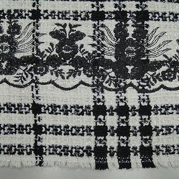 Материалы для творчества ручной работы. Ярмарка Мастеров - ручная работа Ткани: Chanel нарядная с вышивкой и люрексом. Handmade.