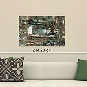 Картины и панно handmade. Livemaster - original item Painting on canvas oil Green Brown White 40H60. Handmade.
