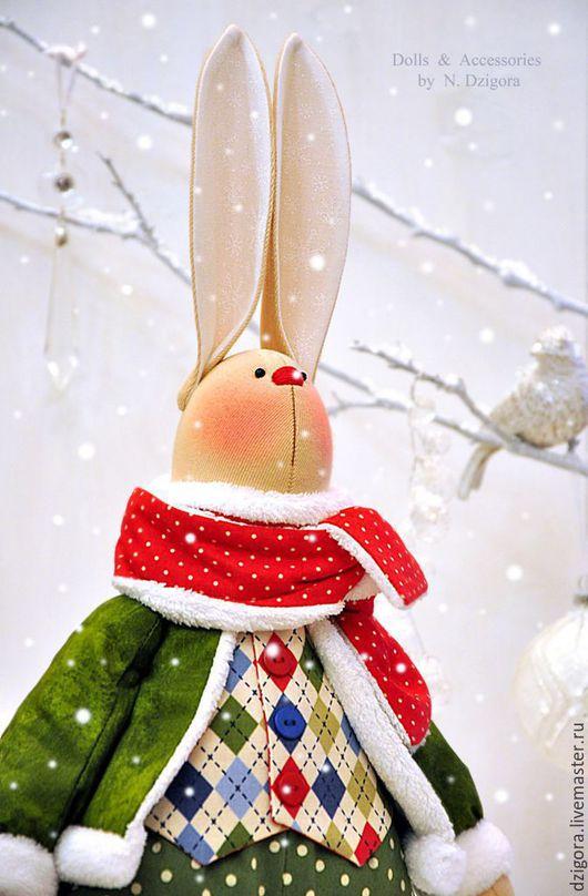 Игрушки животные, ручной работы. Ярмарка Мастеров - ручная работа. Купить Рождественский кролик Christopher / Кристофер. Handmade. Заяц