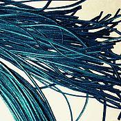 """Шнуры ручной работы. Ярмарка Мастеров - ручная работа Шнур кожаный """"темный изумруд"""". Handmade."""