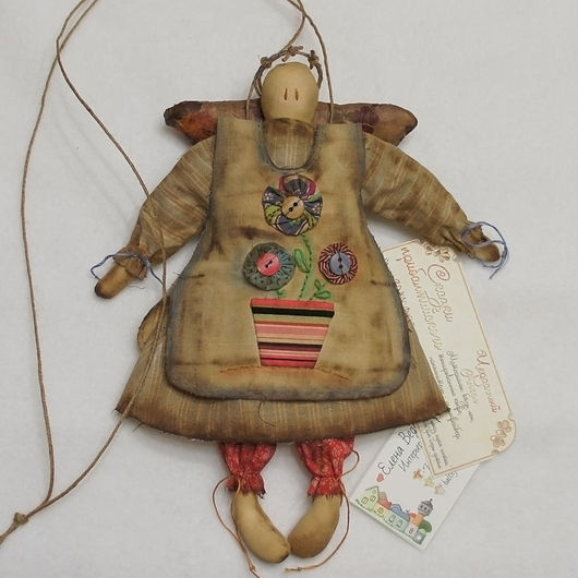 Ароматизированные куклы ручной работы. Ярмарка Мастеров - ручная работа. Купить Чердачный Ангел. Handmade. Разноцветный, примитивная игрушка, хлопок