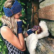 Аксессуары handmade. Livemaster - original item GOLDEN SAND set bandage and mittens. Handmade.