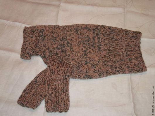 Одежда для собак, ручной работы. Ярмарка Мастеров - ручная работа. Купить Вязаный джемпер для средней собаки. Handmade. Коричневый