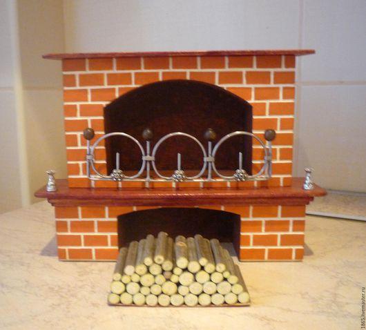 Кукольный дом ручной работы. Ярмарка Мастеров - ручная работа. Купить Кукольный камин. Handmade. Камин, румбокс, Дерево натуральное
