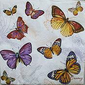 Декупаж из бабочек