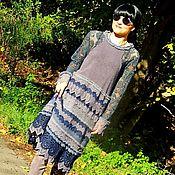 Одежда ручной работы. Ярмарка Мастеров - ручная работа Зимнее платье в БОХО стиле (№362). Handmade.