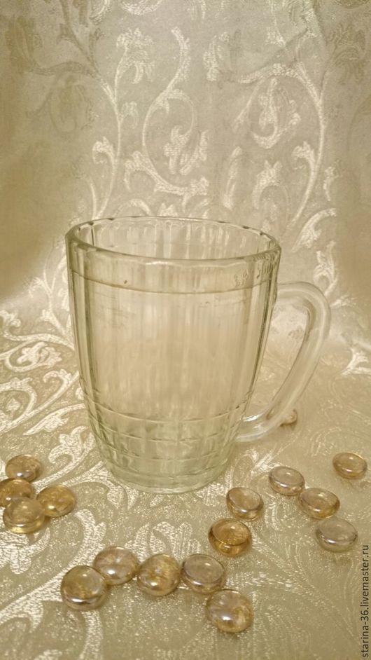 Винтажная посуда. Ярмарка Мастеров - ручная работа. Купить Кружка пивная- 2 стекло. ссср. Handmade. Белый, подарок винтажный