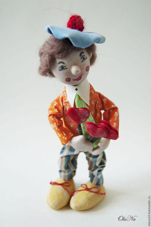 Коллекционные куклы ручной работы. Ярмарка Мастеров - ручная работа. Купить Клоун. Handmade. Комбинированный, кукла ручной работы, хлопок
