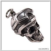 Украшения handmade. Livemaster - original item Moto Skull pendant No. 8 stainless steel 316L. Handmade.
