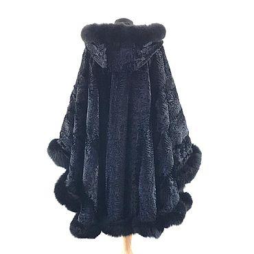 Одежда ручной работы. Ярмарка Мастеров - ручная работа Пончо: женское меховое. Handmade.