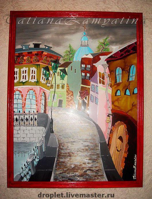 """Город ручной работы. Ярмарка Мастеров - ручная работа. Купить Картина """"Город"""". Handmade. Картина, на стену, купить, оригинальный подарок"""
