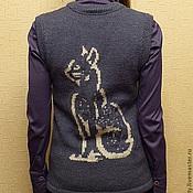 Одежда ручной работы. Ярмарка Мастеров - ручная работа Жилет с кошкой. Handmade.